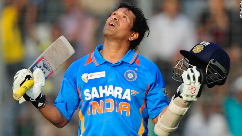 Tendulkar became the first man in cricket history to score 100 international hundreds when he made 114 in a limited-overs match against Bangladesh on March 16, 2012.