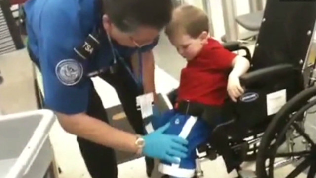 TSA pats down 3-year-old in wheelchair