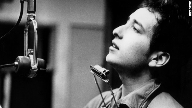 Bob Dylan, shown here on November 1, 1961, during one of the John Hammond recording sessions for Dylan's first album.