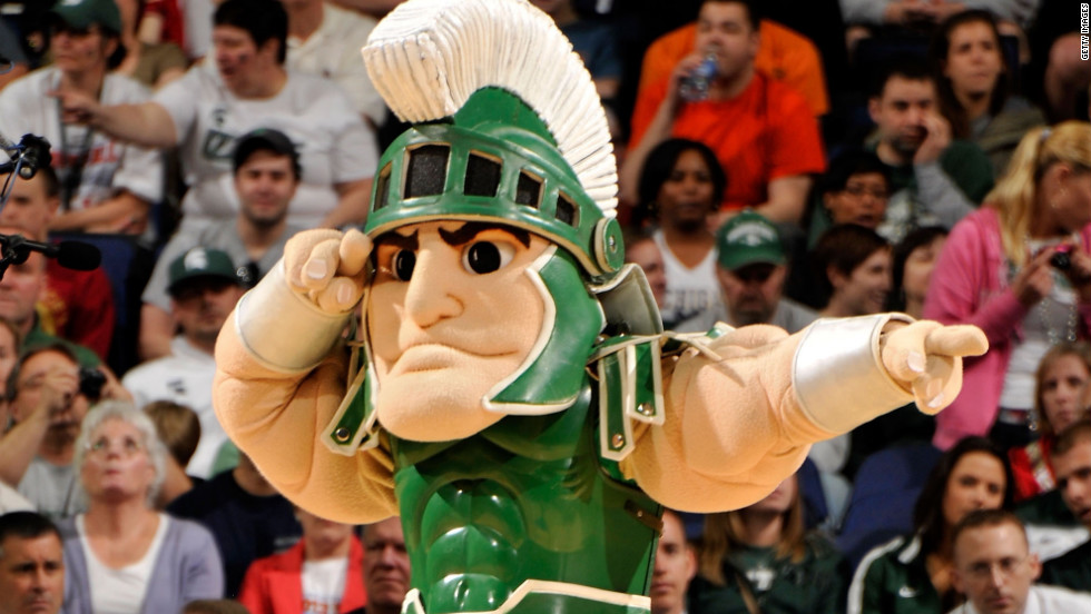 Sparty salutes the Michigan State Spartans, the top seed in the West region who defeated Saint Louis this weekend to advance to the Sweet 16.