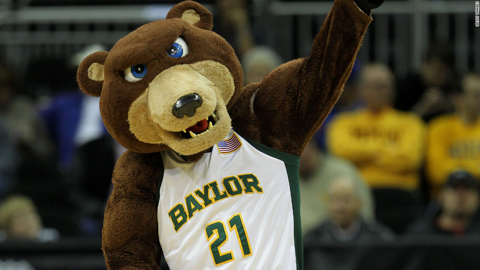 Baylor Bears mascot Bruiser will help the team take on Xavier in the Sweet 16.