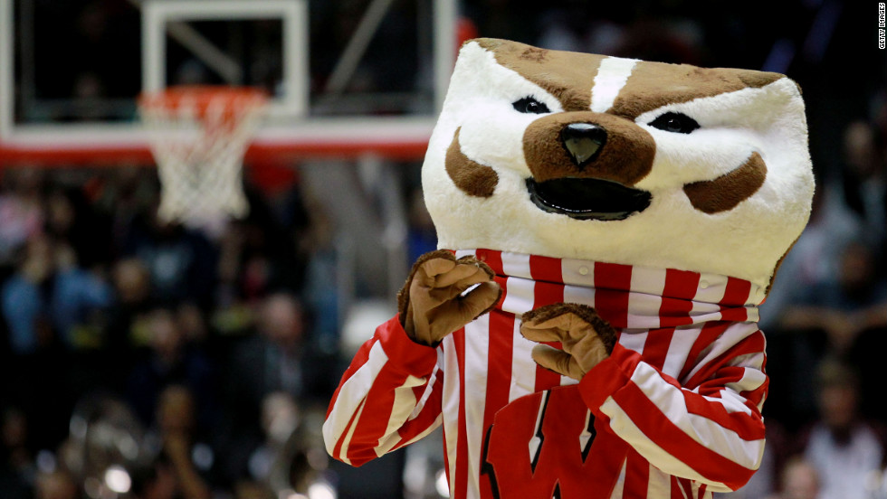 "Buckingham U. ""Bucky"" Badger and the Wisconsin Badgers will face Syracuse in the Sweet 16."