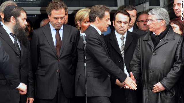 Sarkozy visits Toulouse shooting site