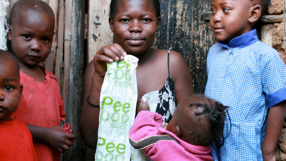 "Created by Swedish inventor Anders Wilhelmson, <a href=""http://www.peepoople.com/"" target=""_blank"">""Peepoo""</a> is a biodegradable single-use toilet bag which turns human waste into fertilizer."