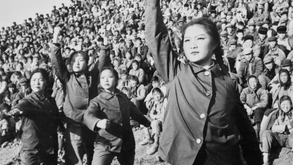 Rojo says that during her journey she discovered that Chinese ballet is a relatively new art form introduced as a mode of cultural propaganda for the communist regime midway through the last century. This picture, released in March 1974 by the Chinese official news agency, shows female workers performing a ballet criticizing the teachings of ancient Chinese philosopher Confucius.