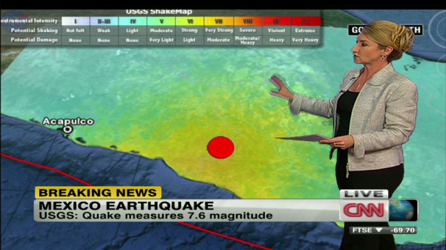 Quake strikes near Guerro-Oaxaca, Mexico