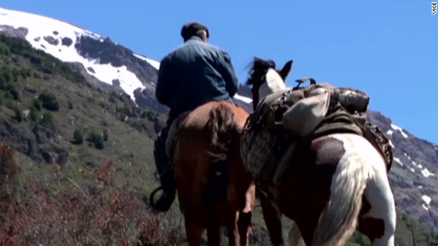 Faustino, a gaucho in Pantagonia, Peru, sets out with his horse