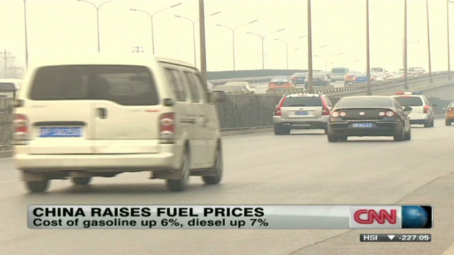 China not immune from gas price hikes