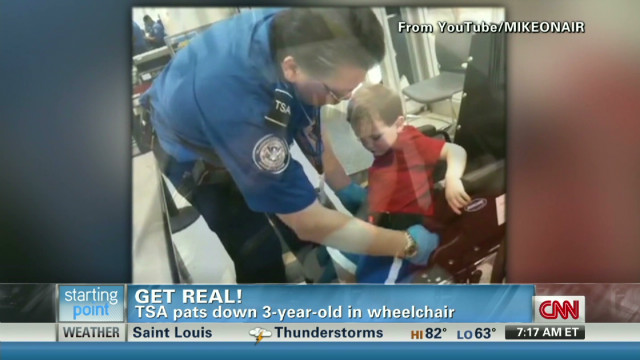 Get Real! TSA pats down 3-year-old