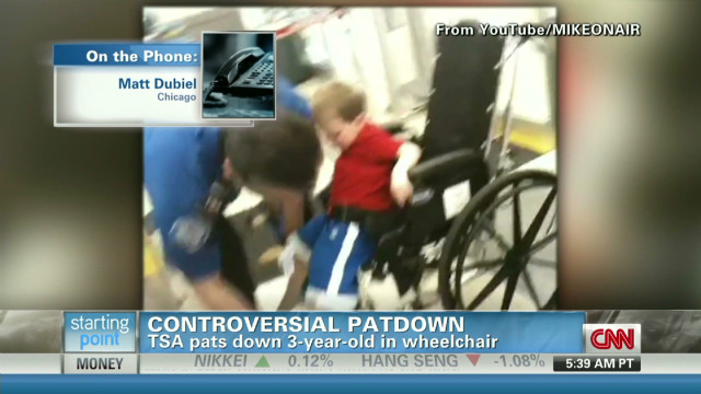 Dad says son was scared by TSA patdown