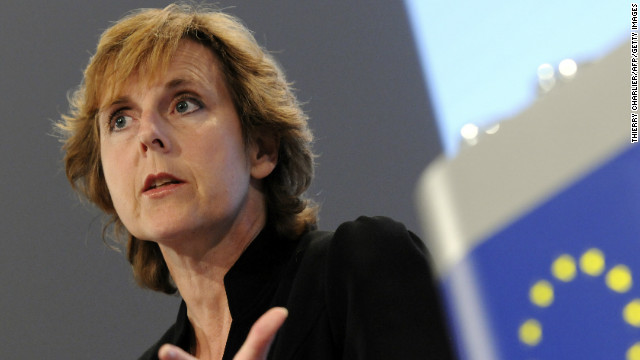 European Union Commissioner for Climate Change Connie Hedegaard at the commission headquarters in Brussels on October 7.