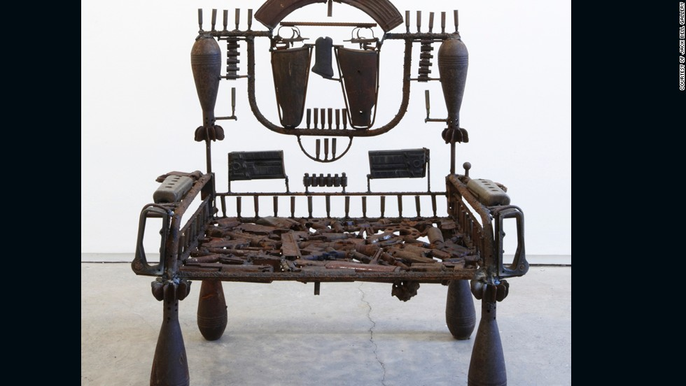 As well as having an aesthetic value, Mabunda's work serves a practical purpose -- removing weapons from circulation and rendering them inoperable.