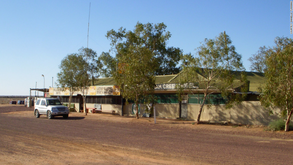 William Creek Hotel provides accommodation to visitors to South Australia's smallest settlement, with a permanent population of just three. The hotel has three rooms and the restaurant offers hearty pub fare.