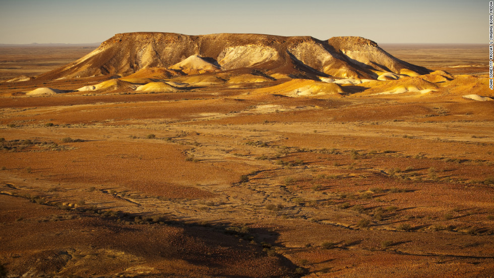 The Breakaways Reserve is located in the northern part of South Australia near the opal mining town of Coober Pedy.