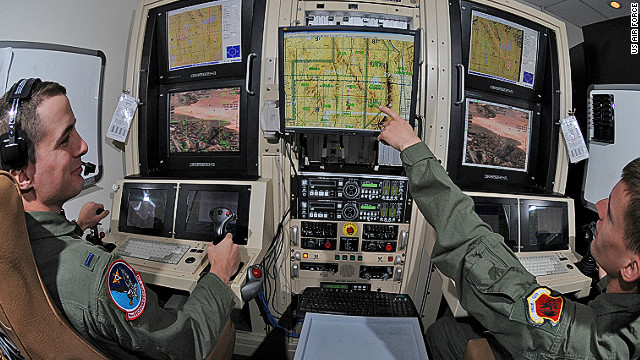 U.S. Air Force Predator drone operators conduct a training mission at Creech Air Force Base, Nevada.