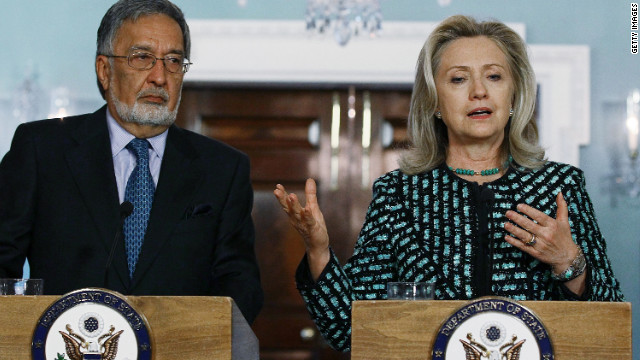 Secretary of State Hillary Clinton (right) and Afghan Foreign Minister Zalmai Rassoul met in Washington, D.C. on March 21 to discuss bilateral issues.