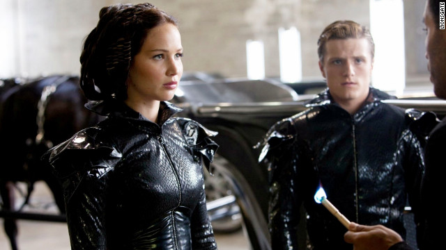 "Jennifer Lawrence and Josh Hutcherson star in ""The Hunger Games."""