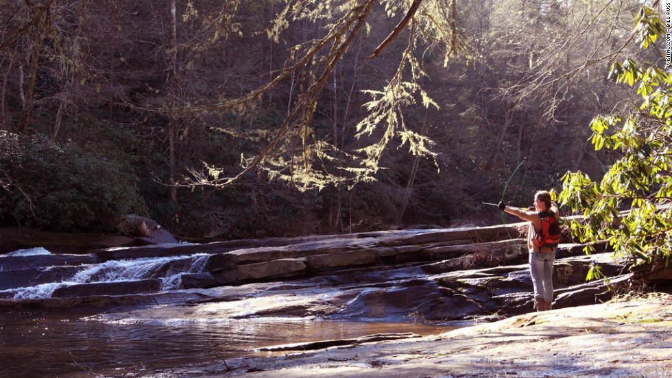 Triple Falls in DuPont State Forest was a backdrop for fight scenes.