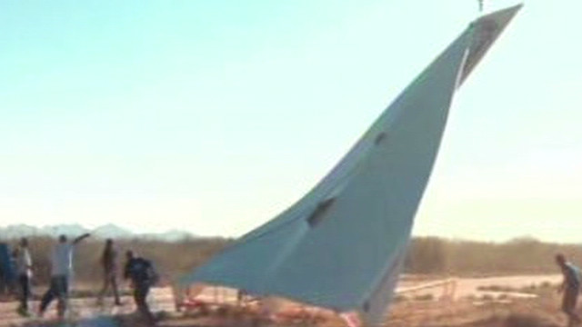 800-pound paper airplane takes flight