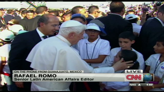 Pope Benedict XVI arrives in Mexico