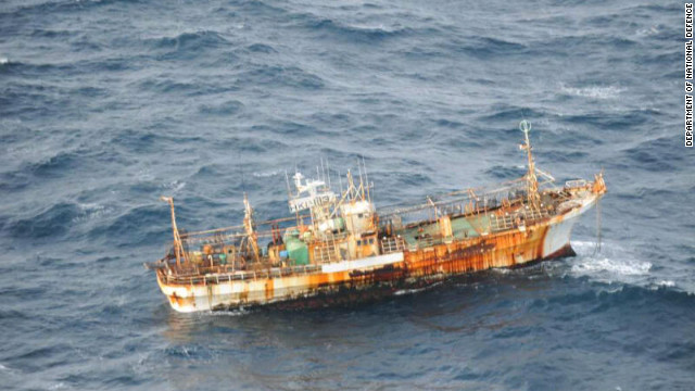 A Japanese fishing vessel that was swept away in the 2011 tsunami is now adrift off the coast of Alaska.