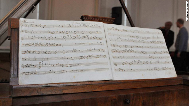 The previously unknown work by Wolfgang Amadeus Mozart at Mozart House, in Salzburg.