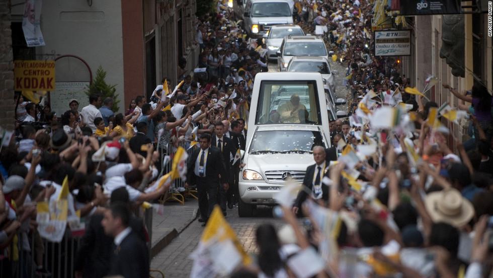 Benedict  arrives in Guanajuato on Saturday.