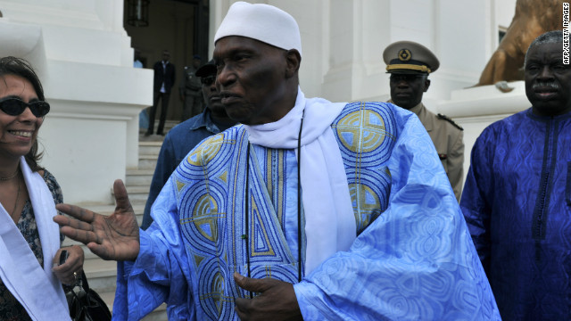 Senegalese president and presidential candidate Abdoulaye Wade on March 23, in Dakar.