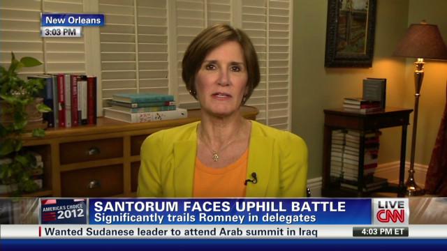 Santorum has an uphill battle