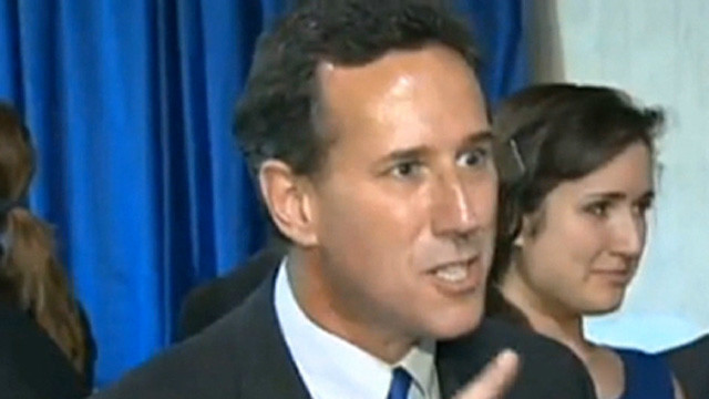 Santorum's Romney attack, media outburst