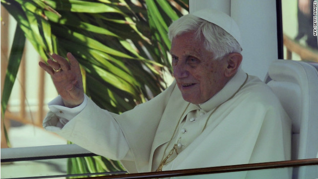 Pope Benedict XVI arrives in Cuba
