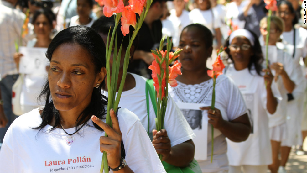 Cuba's Ladies in White march near a church in Havana's Miramar district, protesting human rights abuses on the island.