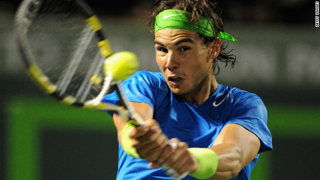 Spanish tennis star Rafael Nadal of Spain has been runner-up three times at Crandon Park in Key Biscayne.