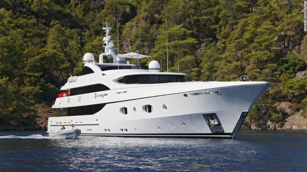 At a cost of $385,000 a week, Turquoise is Fraser Yacht's third most expensive charter vessel.