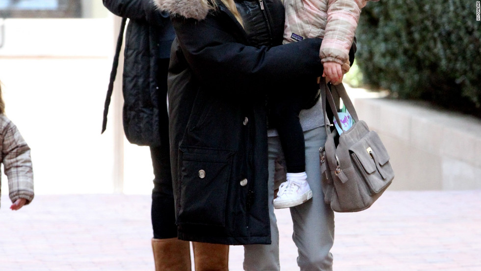 Sarah Jessica Parker picks up her children from school in New York City.