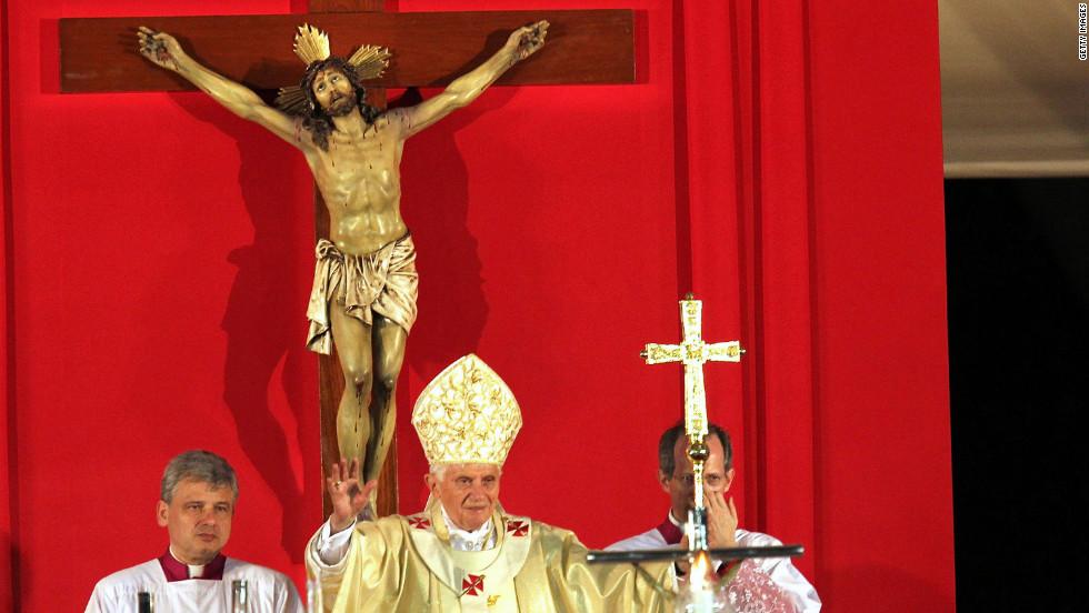 Pope Benedict XVI speaks in Revolution Square.
