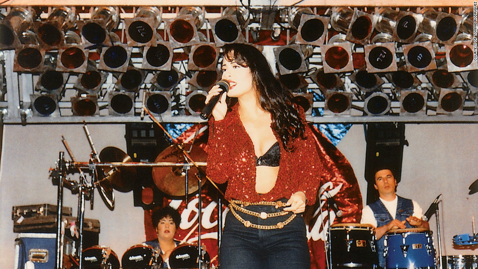 "These images appear in the book ""To Selena, with Love,"" by Chris Perez. Selena was comfortable onstage. It was only natural, especially since she started performing at such a young age. In fact, her father took her out of school when she was in the eighth grade to begin her career. She later received her GED when she was 17."