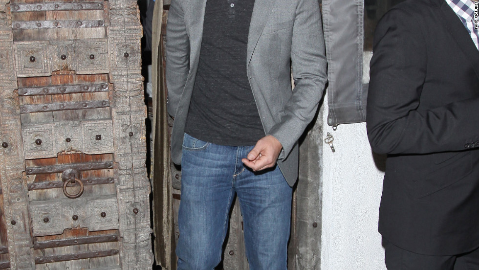 Gerard Butler leaves a club in West Hollywood.