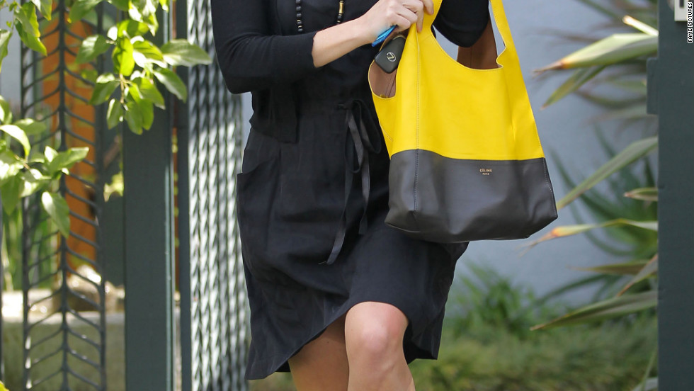 Reese Witherspoon visits a friend in Brentwood.