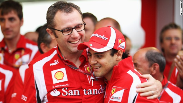 Ferrari driver Felipe Massa (right) has been with the Italian team since 2006.