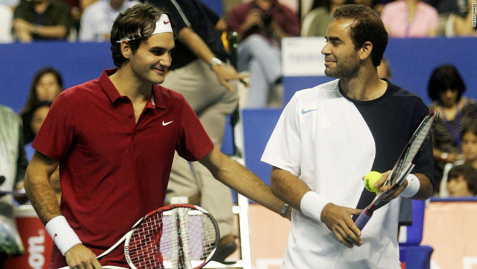 He came out of retirement in 2006 to play in exhibition matches, setting the scene for high-profile clashes with Roger Federer the following year and in 2008. Federer would go on to break Sampras' record of 14 grand slam titles.
