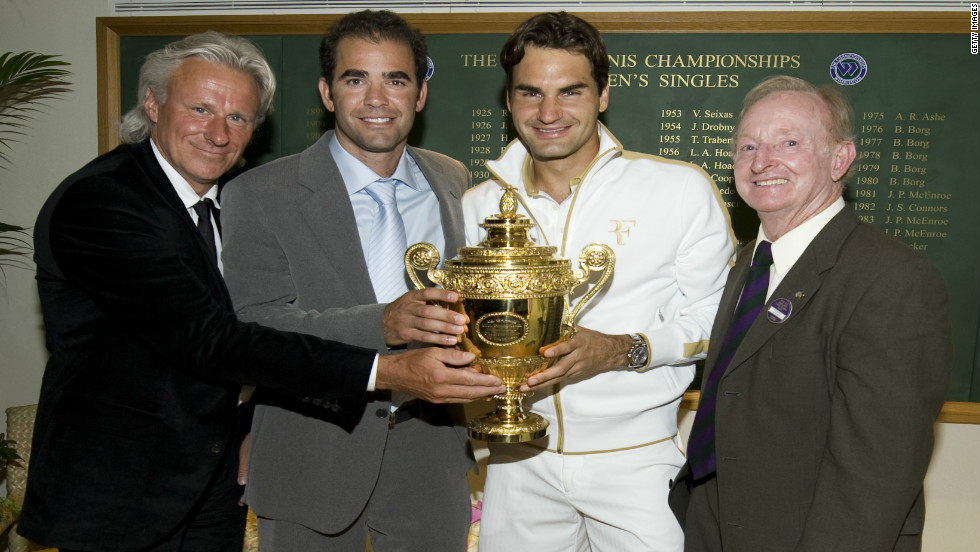 Federer won his 15th grand slam title at Wimbledon in 2009, and is only one away from matching Sampras' Open-era record of seven crowns at the grass-court major.
