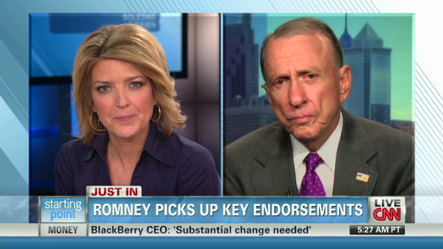 Specter weighs in on Romney endorsements