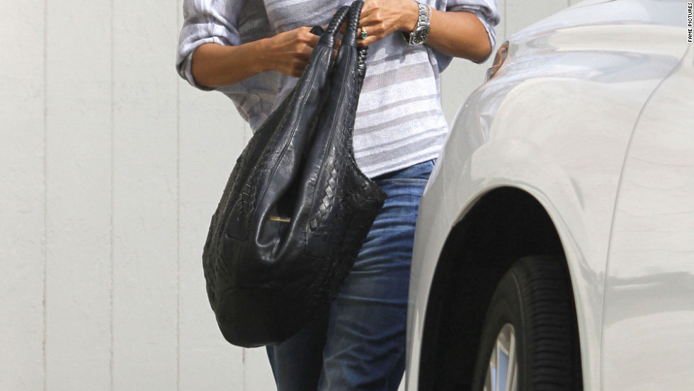 Halle Berry visits a friend in Studio City.