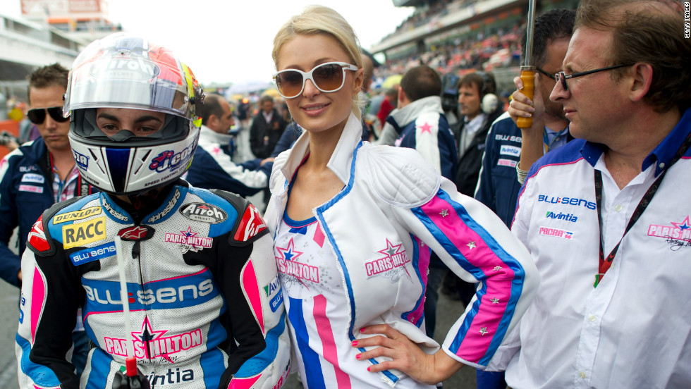 Anderson is not the first female celebrity to enter motorsport. Socialite Paris Hilton co-founded the SuperMartxe VIP MotoGP team in December 2010.