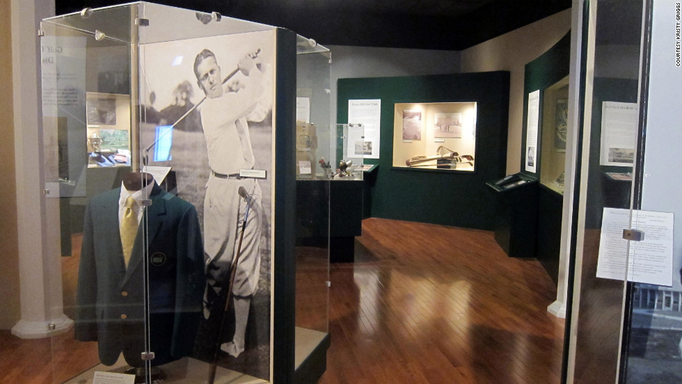 The Augusta Museum of History has two golf displays. One includes a green jacket, the owner of which remains anonymous.