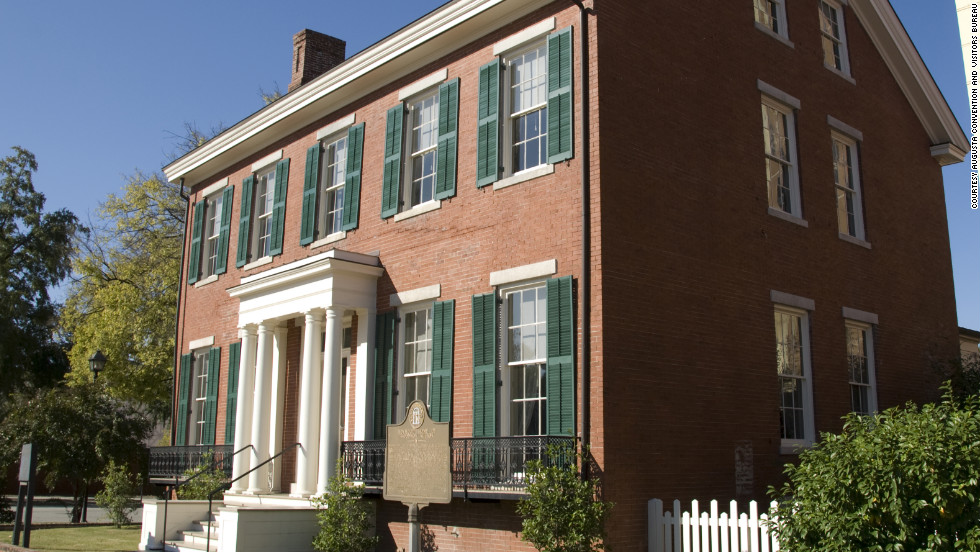 President Woodrow Wilson lived in this Augusta home as a boy.
