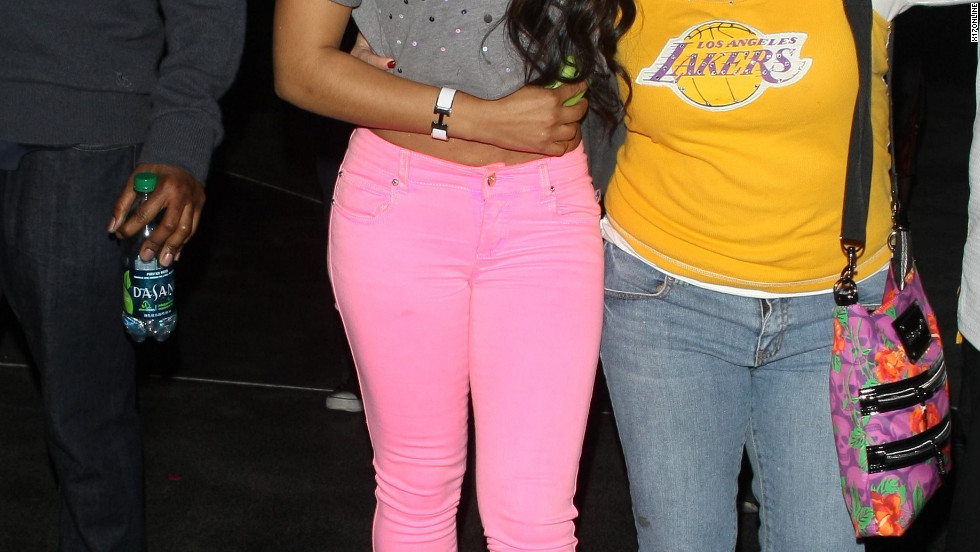 Christina Milian attends a basketball game in Los Angeles.