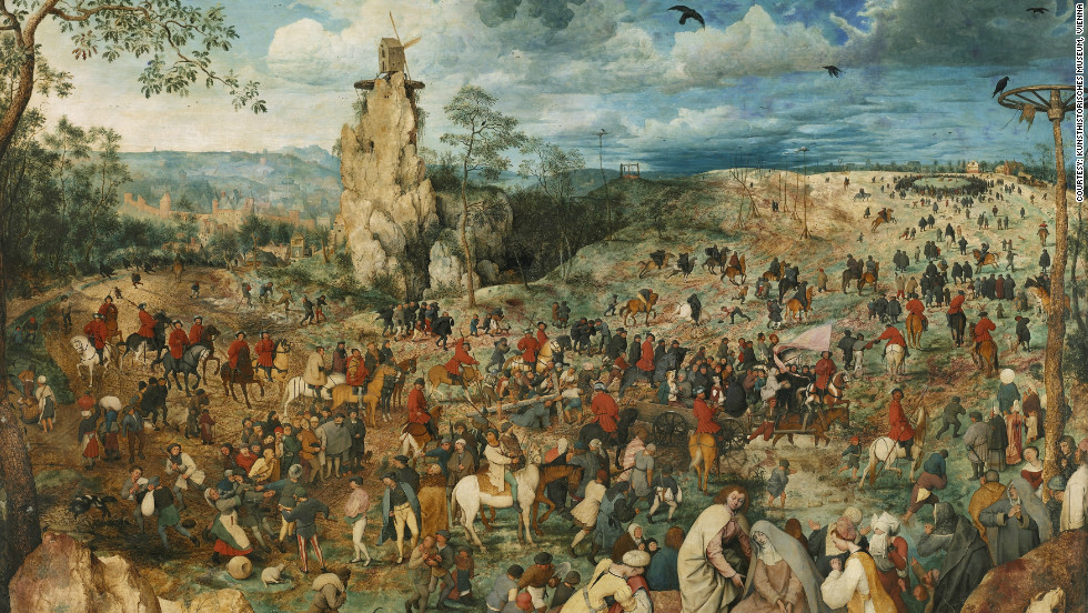 The Bruegel painting which inspired Majewski is in the collection of the Kunsthistorisches Museum in Vienna, Austria.