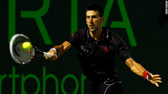 Novak Djokovic is eyeing another Miami Masters title after winning the tournament 12 months ago.